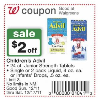 graphic regarding Advil Printable Coupon referred to as 39 Childrens or Babies Advil Coupon Package deal at Walgreens