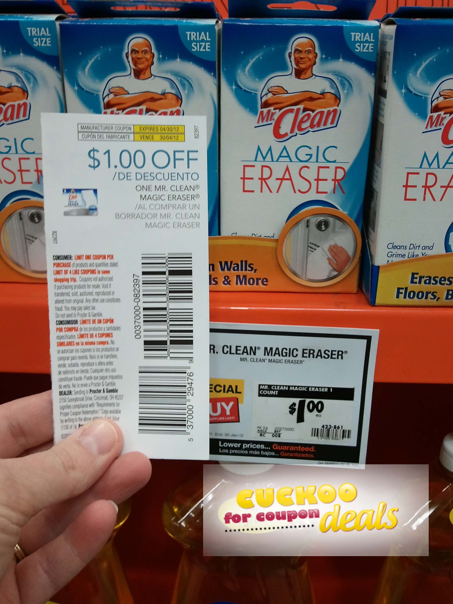 FREE Mr  Clean Magic Erasers & Cheap Tide Detergent & More