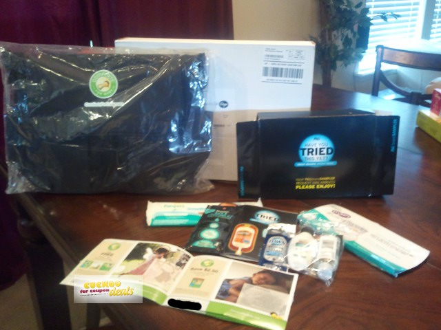 I Posted The Comforts For Baby Free Pack Deal Jan 17th 2017 And It Just Arrived Today Had A Diaper Bag In Plus Coupon Booklet With