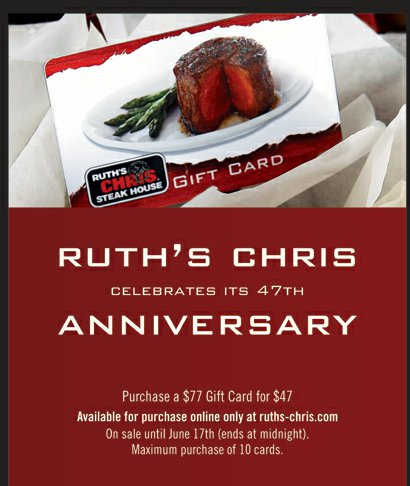 Visit Ruth's Chris Steak House for the finest cuts of USDA Prime beef served sizzling on degree plates, award-winning wines and an unforgettable night.