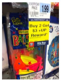 For The Entire Month Of September You Can Get Balloons Really Cheap At Rite Aid These Were Found In Greeting Card Section