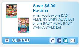 photograph relating to Alive Printable Coupon named Fresh Printable $5 off Child Alive Coupon Concentration Package! Basically