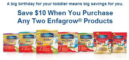High Value 10 Off 2 Enfagrow Products Printable Coupon
