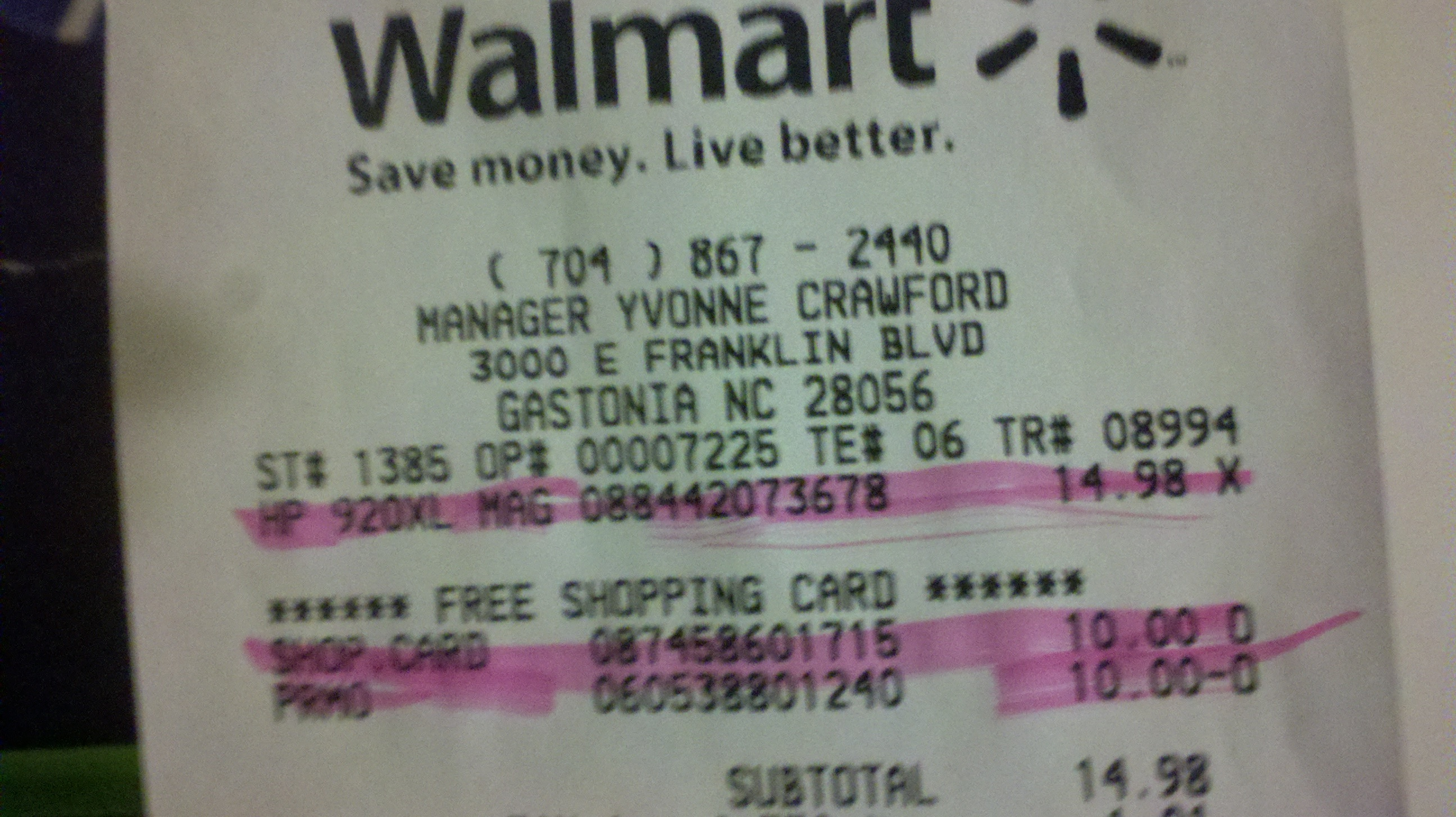 Walmart: Baby Apples & Cheap HP Ink