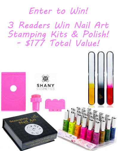 {Giveaway} 3 Readers Win Complete Nail Art Stamping Kits AND Polish – $177 Total Value!! Dont