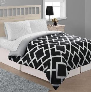 Spectacular Kmart has their Essential Home East Side Stripe Microfiber Comforter or their Essential Home Saville Microfiber Comforter on sale for only PLUS you