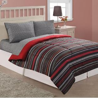 Vintage Kmart has their Essential Home East Side Stripe Microfiber Comforter or their Essential Home Saville Microfiber Comforter on sale for only PLUS you