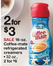 coffeemate ad sale at Target