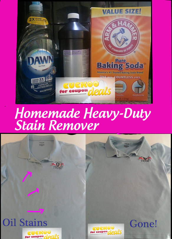 Homemade clothing stain remover - Coffee stains oil stains get rid easily ...