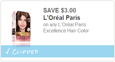 NEW $3/1 L\'Oreal Excellence Hair Color Printable Coupon = only ...