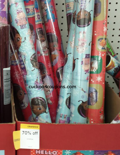 Kmart & Target: 70% off Christmas Wrapping Paper