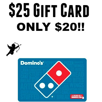 HOT* $25 Domino's Pizza Gift Card for only $20! Must Use PayPal