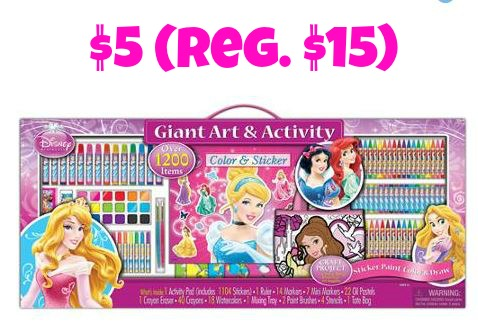 h urry over the walmartcom where you can pick up this artistic studios disney princess art and activity collection set for only 5 reg 15