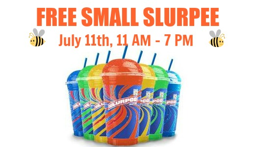 TODAY* 7-Eleven: FREE Small Slurpee on July 11th!