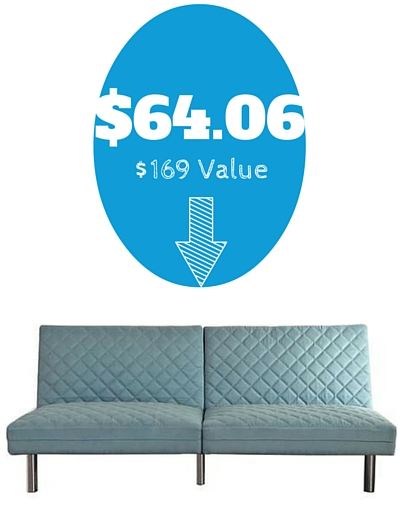 hurry over to walmartcom and pick up the quilted memory foam futon in teal for only reg 169 shipping is free site to