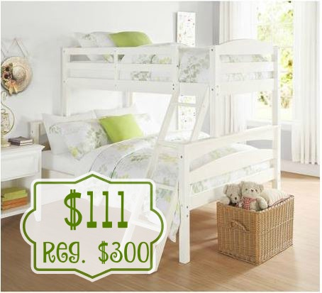 Elegant Bunk bed are great to have to save space Right now you can pick up the Dorel Living Brady Twin over Full Bunk Bed for only reg
