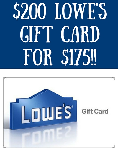 Ebay: $200 Lowe's Gift Card for $175!!