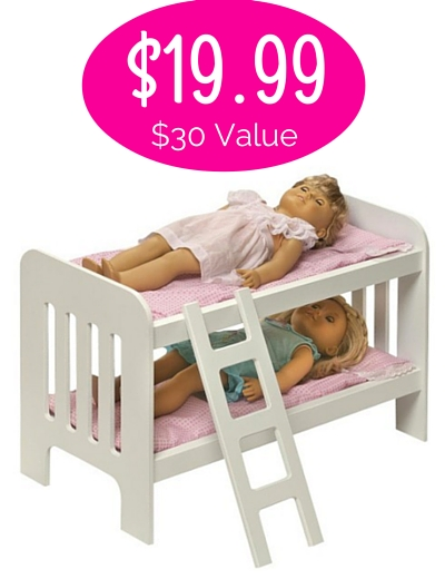 Head Over To Walmart And Pick Up This Badger Basket Doll Bunk Beds With Ladder For Just 1999 Regularly 2922 Shipping Is FREE When