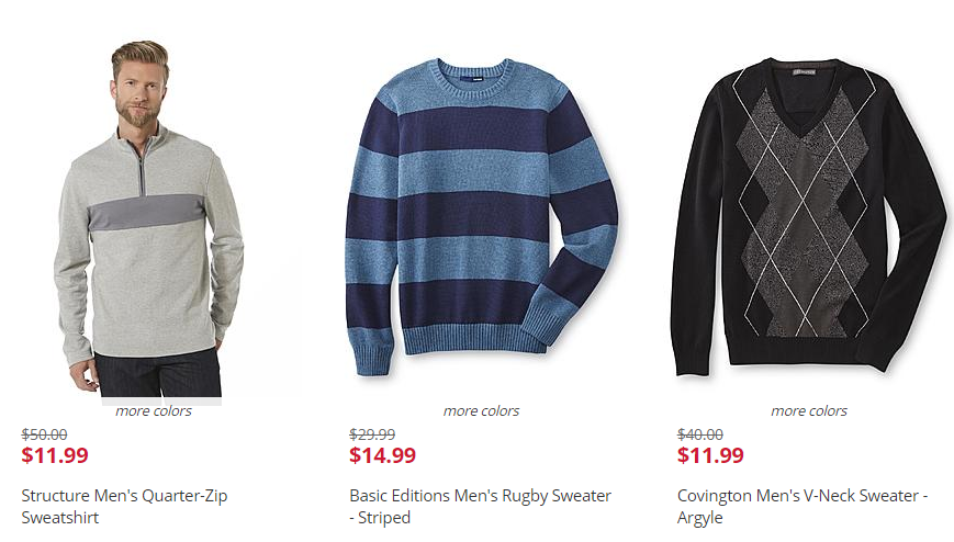 Kmart: As Low As $11.99 Men's Sweaters! ($50 Value)