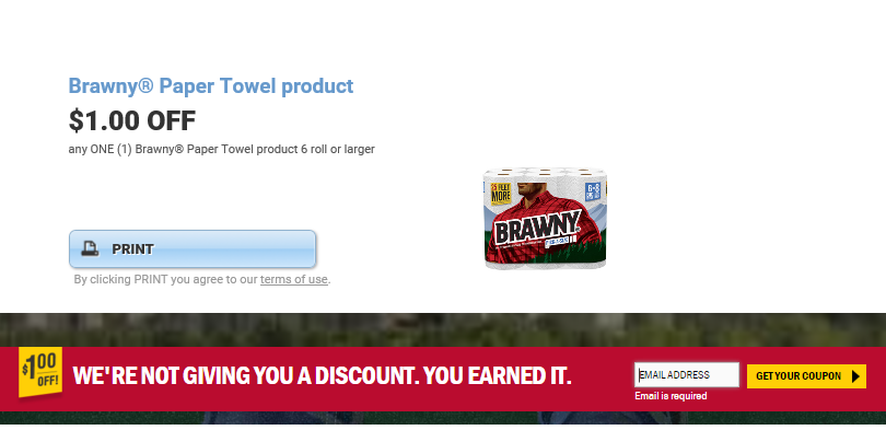 picture regarding Brawny Printable Coupons named CVS: $0.39 For each Roll Brawny Paper Towel Rolls! Inventory Up!