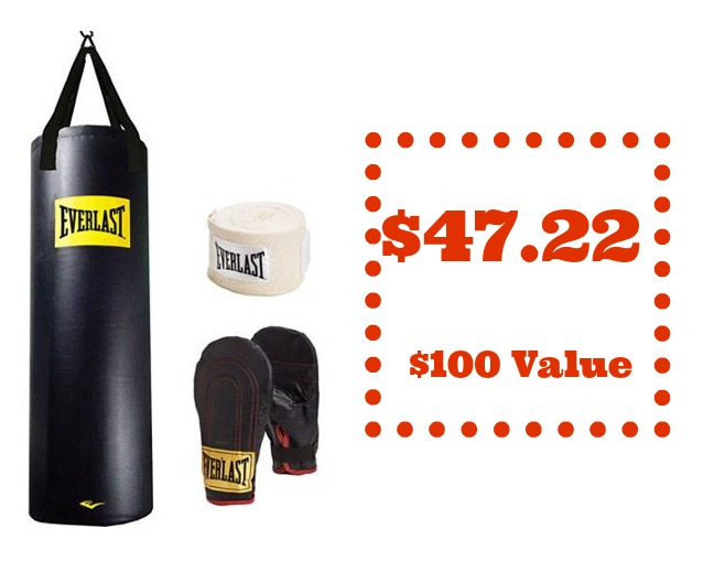 Looking For A Way To E Up Your Workout Routine Head Over Where You Can Snag This Everlast 100 Pound Heavy Bag Kit Just 47 22 Reg