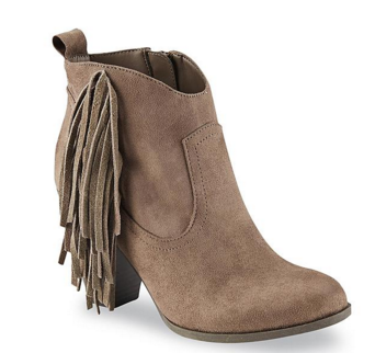 70c890a5ee6648 Bongo Women s Willow Taupe Fringe Western Ankle Boot  29.99 (Reg.  49.99)  price will be  25.49 after code