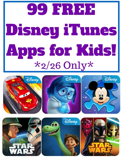 99 FREE Disney iTunes Apps for Kids!
