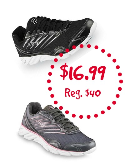 b452feaad4 Earlier I told you about the  22.94 Men s Reebok Shoes ( 55 Value) at Sears!  Now we have another deal. Pick up Men s Fila or Women s Fila Running Shoes