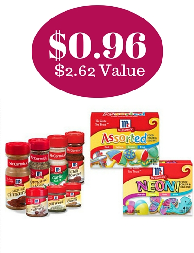 Target: $0.96 McCormick Spices, Extracts,and Food Coloring! ($2.62 ...