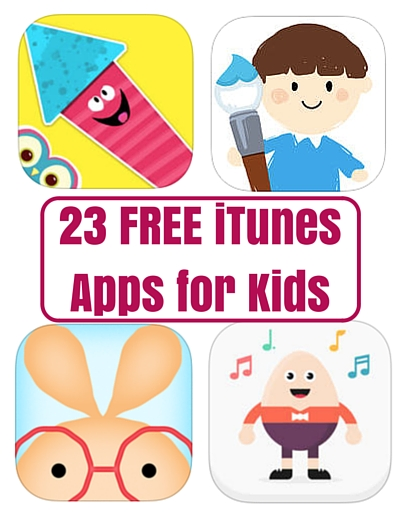 23 FREE iTunes Apps for Kids