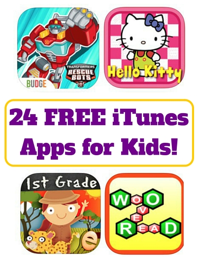 24 FREE iTunes Apps for Kids!