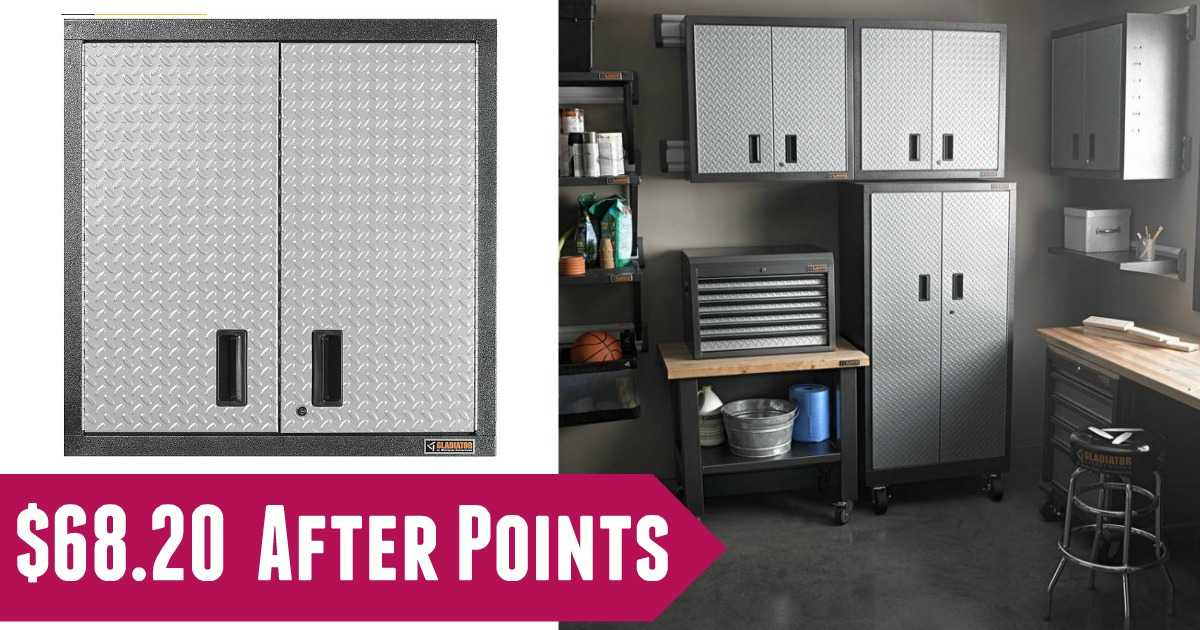Sears Has This Gladiator Steel 2 Door Garage Wall Cabinet On Sale For  $179.99 (reg. $229.99). SYWR Members Will Get Back $111.79 Back In Points.