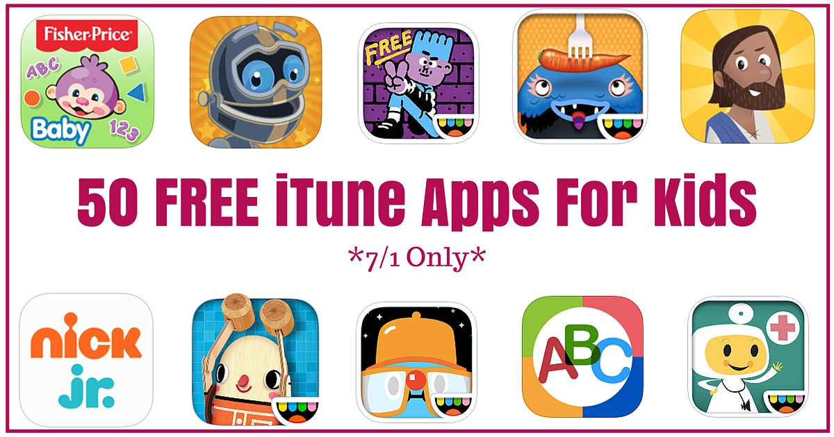50 FREE iTune Apps For Kids