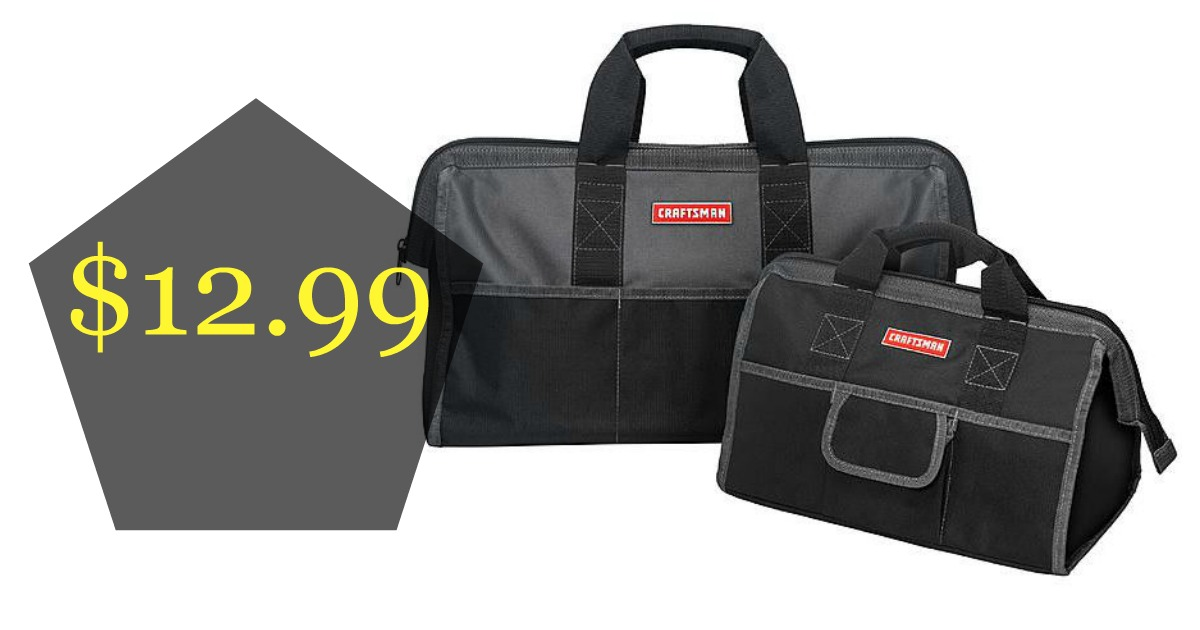 Here S A Cool Deal For The Ger Bags Head Over To Sears Pick Up This Craftsman Tool Bag Combo Set 16 And 20 Inch Only 12 99 Reg 29