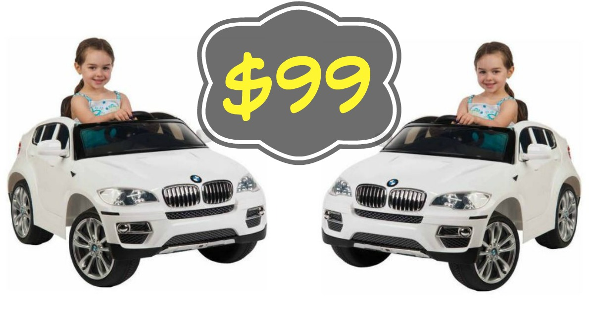 walmart: $99 huffy bmw x6 6-volt battery-powered ride-on! ($159 value)