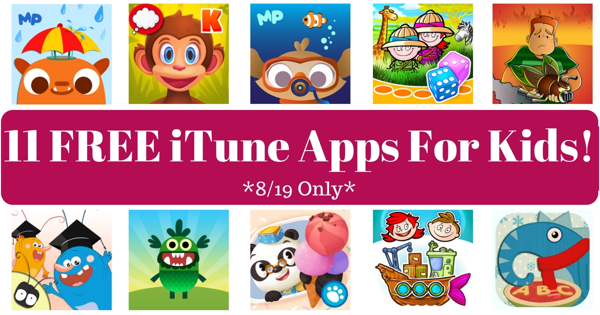 11 FREE iTune Apps For Kids!