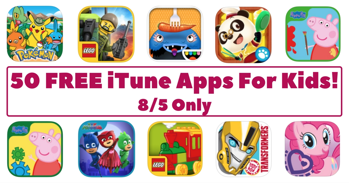 50 FREE iTune Apps For Kids!