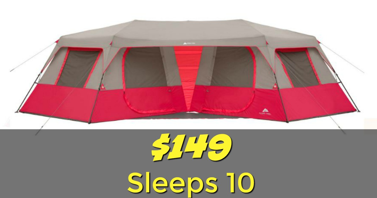 Head over to Walmart.com to pick up the Ozark Trail 25u2032 x 12u00276u2033 Instant Double Villa Cabin Tent ...  sc 1 st  Cuckoo For Coupon Deals & Walmart: $149 Ozark HUGE Cabin Tent Sleeps 10! ($250 Value)