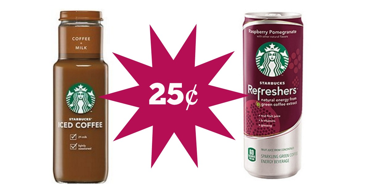 Walgreens 25 Starbucks Refreshers And Iced Coffee 2 Value