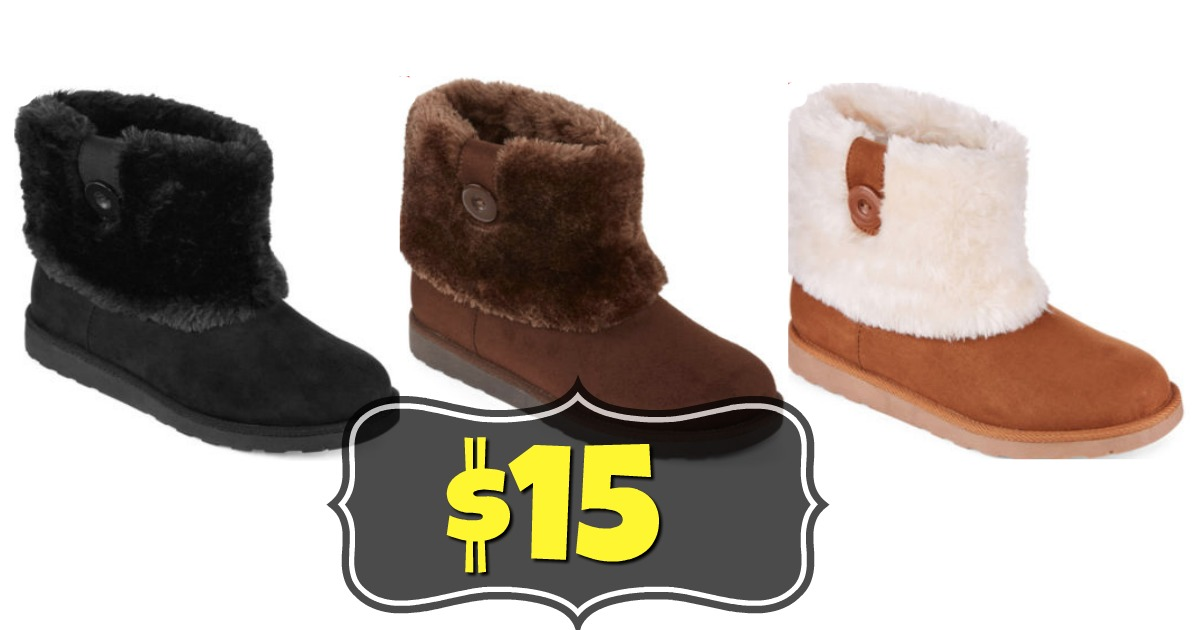 2bd7db0adf9e6 Hurry over to JcPenney.com and you can grab these Arizona Women s Faux-Fur  Booties for just  15.00 when you use the code HURRY39. These normally run  for  60 ...