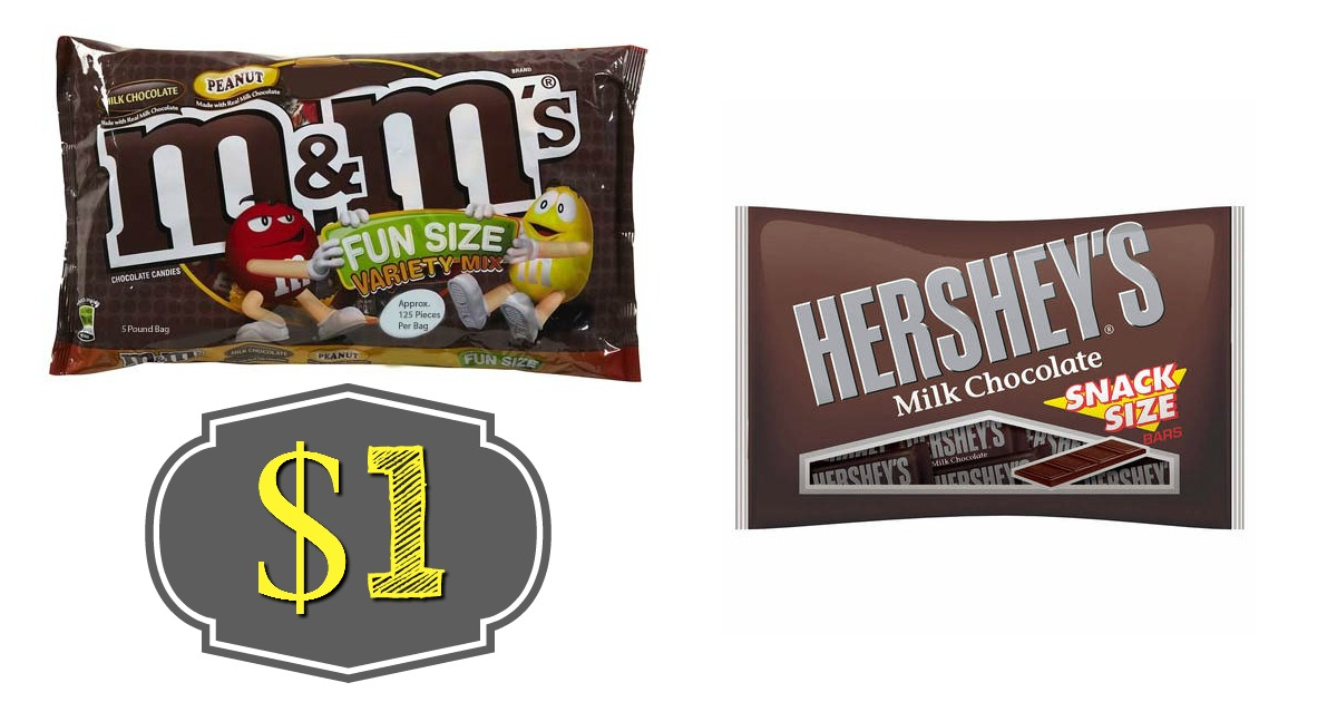 CVS: $1 Hershey's Snack & M&M Fun Size Bags! ($3.79 Value)