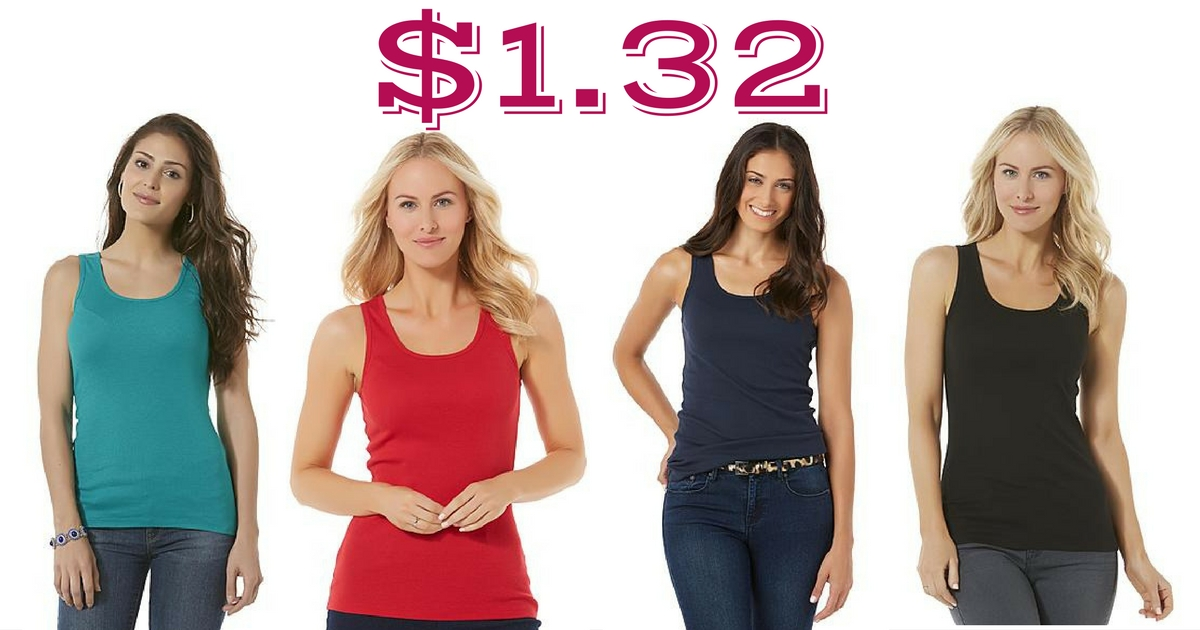672aad97a3279 Head to Kmart or Sears to score Attention Women s Tank Tops on sale for   3.99. SYWR members