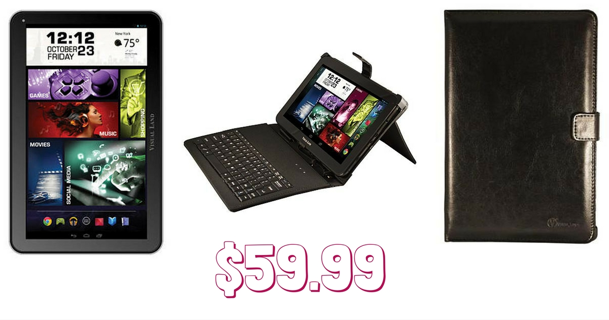 head over to kmart and snag the visual land prestige elite 10q black 10u2033 tablet with keyboard case for only