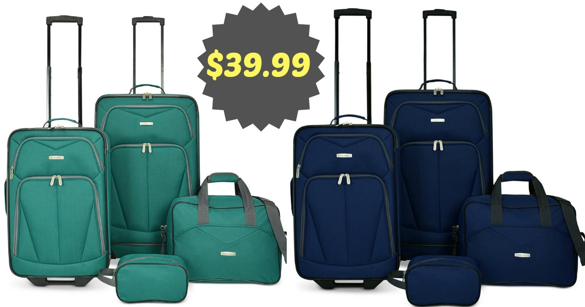 Video} Macy's: $39.99 Four Piece Luggage Set ($160 Value)