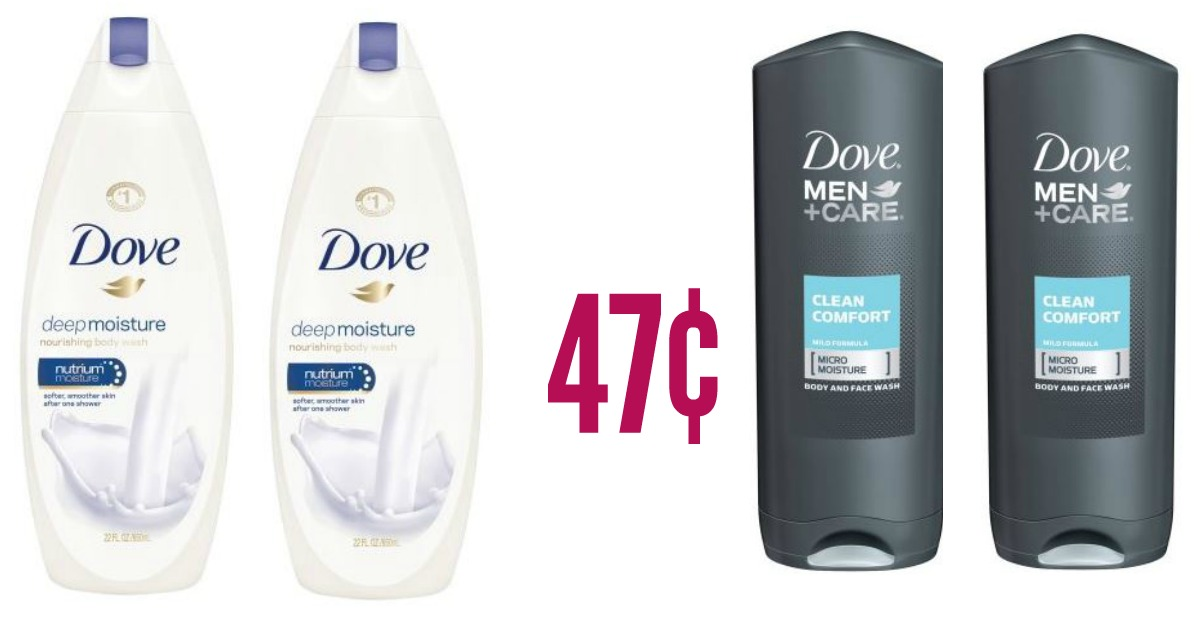 Walmart 0 47 Dove Men S And Women S Body Wash 5 47 Value
