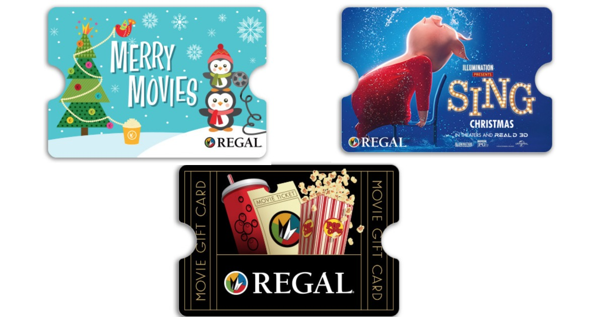 Regal Theatres 15 Concession Gift Card W50 Purchase