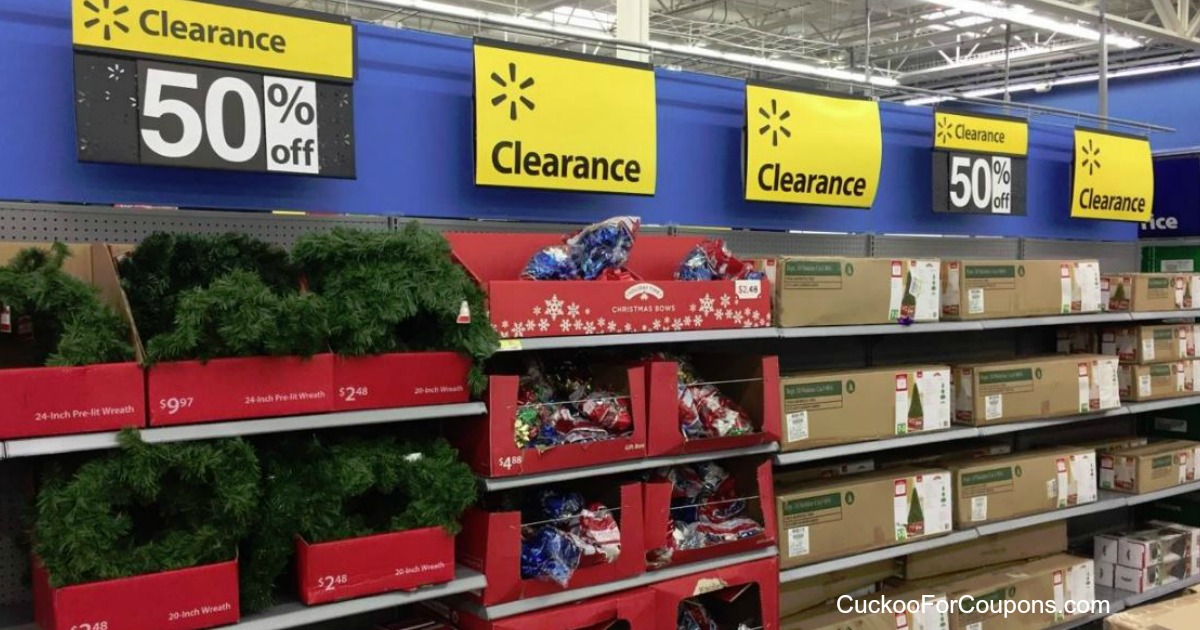 walmart has their christmas items on clearace for 50 off right now its great time to pick up a wreath for next year or get that more expensive tree you - Walmart Christmas Clearance