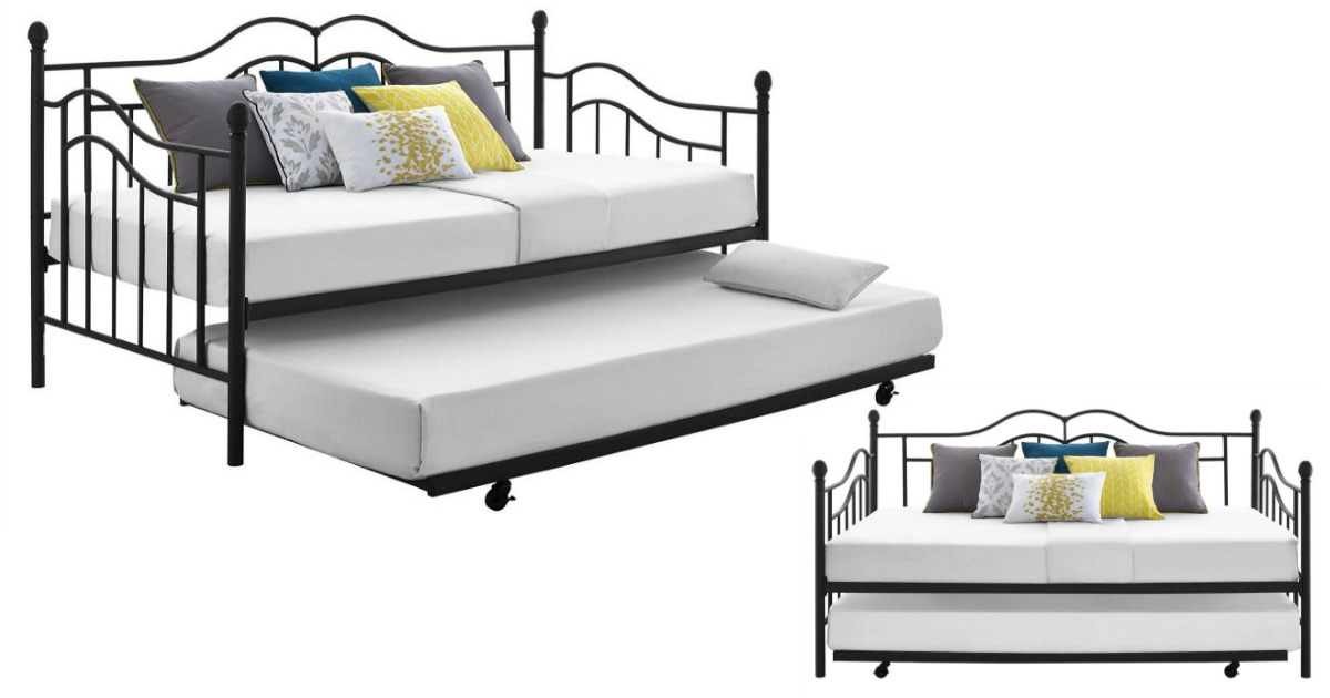 heres another hot kmart deal head over and buy the essential home scroll daybed with trundle for 179 and score 123 in points back