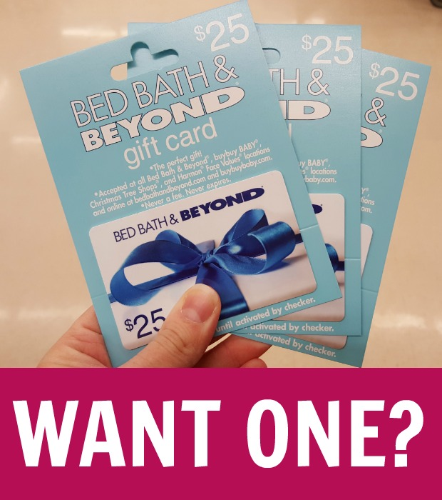 i am giving away a free 25 bed bath beyond gift card friday feb 3 2017
