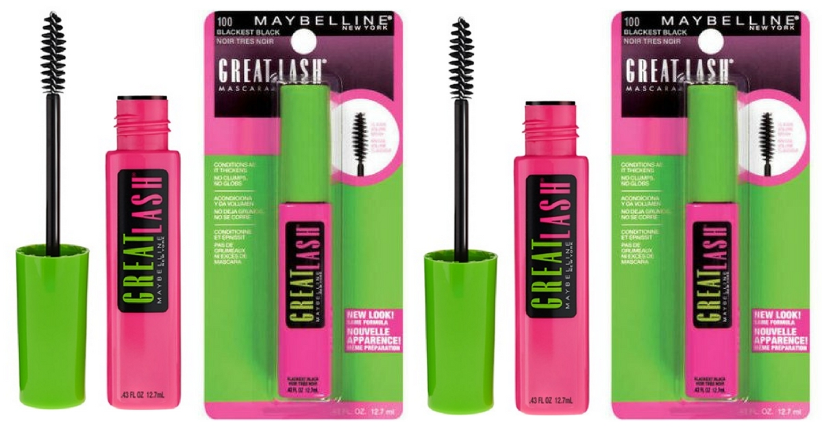 6b8fa923203 Head on over to Amazon where you can score this Maybelline New York Great  Lash Waterproof Mascara Makeup, Brownish Black, 2 Count for just $4.44, ...